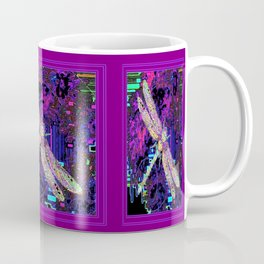 Contemporary Dragonfly in Amethyst Purple Swamp Mists Abstract Coffee Mug