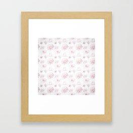 Soft Pastel Pink Rose Pattern Framed Art Print