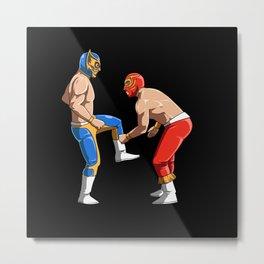Mexican Wrestler Lucha Libre Metal Print