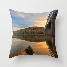 Point of Rocks Sunset Throw Pillow