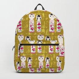 Japanese Kokeshi on Gold-leaf Screen Backpack