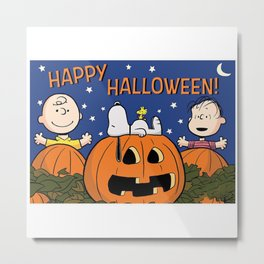 Great Pumpkin Charlie Brown Metal Print