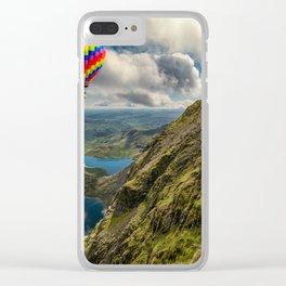 Snowdon Hot Air Balloon Clear iPhone Case