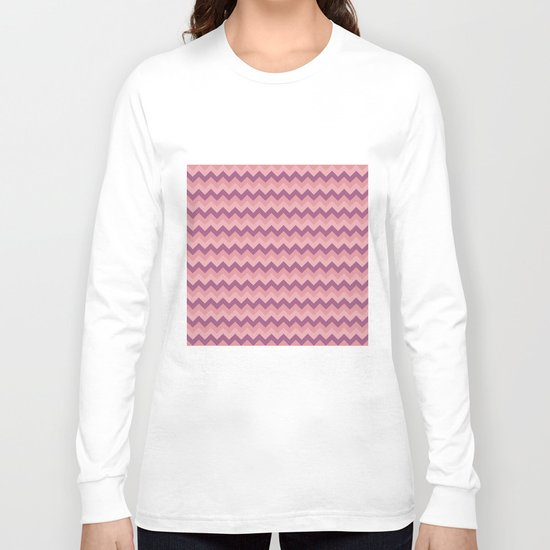 Colorful Chevron Pattern III Long Sleeve T-shirt