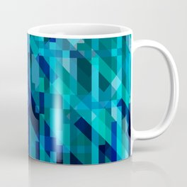 abstract composition in blues Coffee Mug