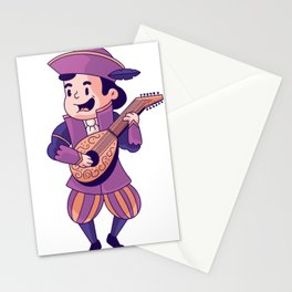 Cute Bard Stationery Cards