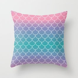 Pastel Mermaid Throw Pillow