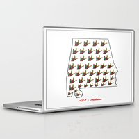 alabama Laptop & iPad Skins featuring ASL - Alabama by EloiseArt