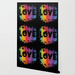 For Love - Black Background Wallpaper
