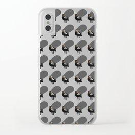 pattern black chicken Clear iPhone Case