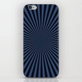 50 Rays in Dark Blue iPhone Skin