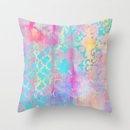 Colorful Abstract Patterns Throw Pillow