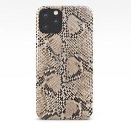 Snake skin art print iPhone Case