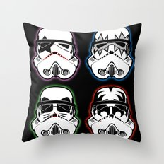 Kiss Troopers Throw Pillow