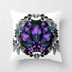 Pink Bloom Throw Pillow