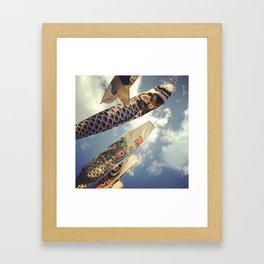 Japanese Koinobori Framed Art Print