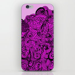 Squirrels Zentangle Drawing Pink iPhone Skin