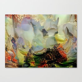 Peony foam inside exploded with joy Canvas Print