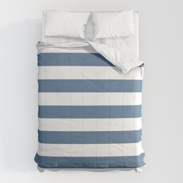 Blue and White Stripes Comforters