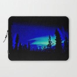 Aurora Borealis Forest Vibrant Laptop Sleeve