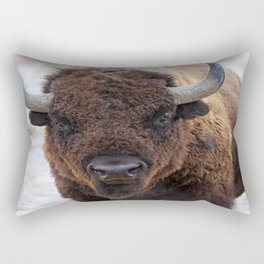 In The Presence Of Bison 2  Rectangular Pillow