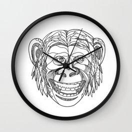 Humanzee Smiling Doodle Wall Clock