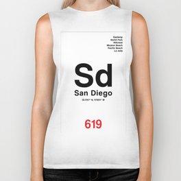 San Diego City Poster Biker Tank