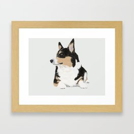 My Dog Beans Framed Art Print