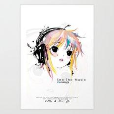 See The Music Art Print