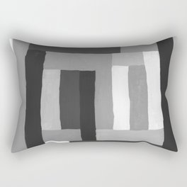 Painted Color Blocks Rectangular Pillow