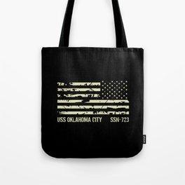 USS Oklahoma City Tote Bag