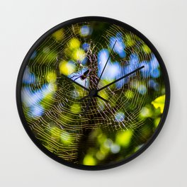 Spider In A Web Wall Clock