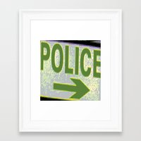 police Framed Art Prints featuring police by XiXi