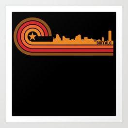 Retro Style Buffalo New York Skyline Art Print