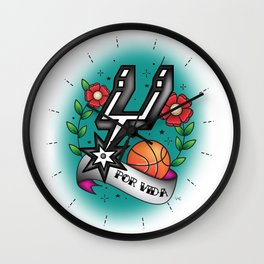 Old-School Spurs Love Wall Clock