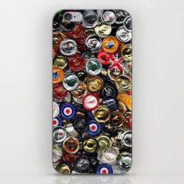 Beer Bottletops iPhone Skin