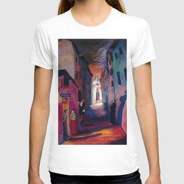 'Ava Maria', Italian Village Landscape Painting by Marianne Von Werefkin T-shirt