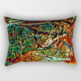 Emerald Impressions Abstract Rectangular Pillow