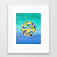 jamaica Framed Art Prints featuring Jamaica by Beegy Green