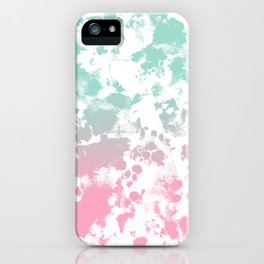Margot - abstract painting mint and pink pastel trendy girly home decor dorm college gifts iPhone Case