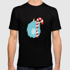 December Monsters: Happy Wishes MEDIUM Black Mens Fitted Tee
