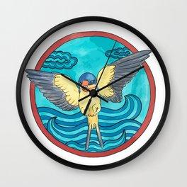 Bird swallow and sea Wall Clock