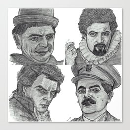 Blackadder collage Canvas Print