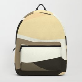 Beige Brown and Taupe Abstract Backpack