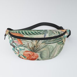 Vintage & Shabby Chic - Sepia Tropical Bird Garden Fanny Pack