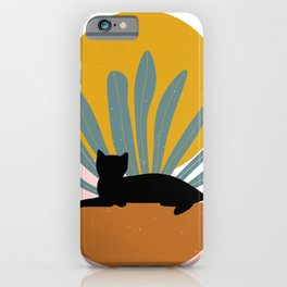 The Cat and The Sun III iPhone Case