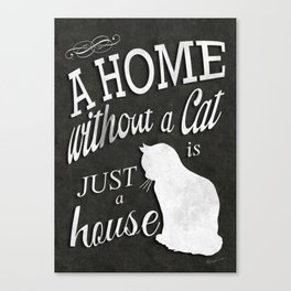 Home with Cat Canvas Print
