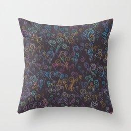 Pixelated Spirals Throw Pillow