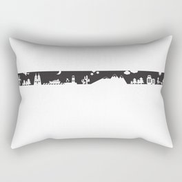 Find your angle_Travel_MonoBlack Rectangular Pillow