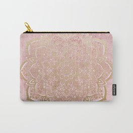 MOON DANCE MANDALA IN GOLD AND PINK Carry-All Pouch